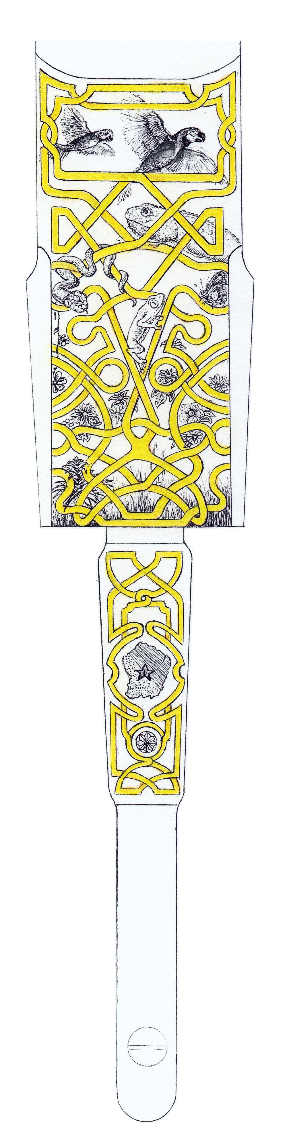 Plat de bascule - Pontet avec la Guyane et son héraldique