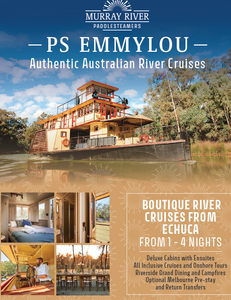 3, 4, 6 Day Murray River Cruises with Multi-course Dining onboard, Riverside Dining & Campfires, Shore Excursions , maximumu 18 guests