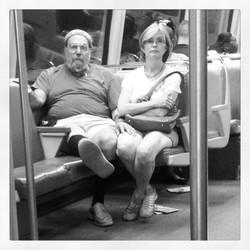 touristas on the Metro