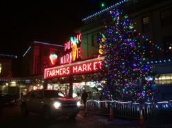 Market at Christmastime