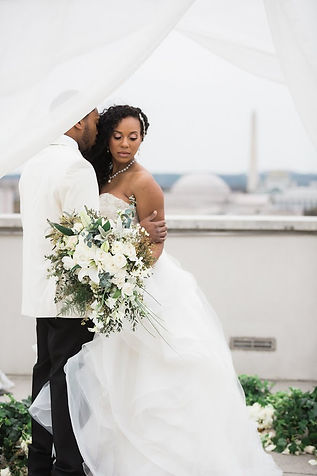 Bridal Bouquet, Rooftop wedding in DC