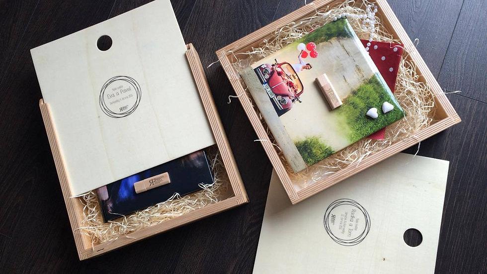dřevěnná dárková krabice