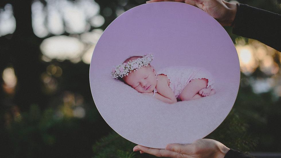 FOTOoriginal - kulatý obrázek na dřevě průměr 30 cm