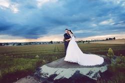 svatební foto s bouřkou