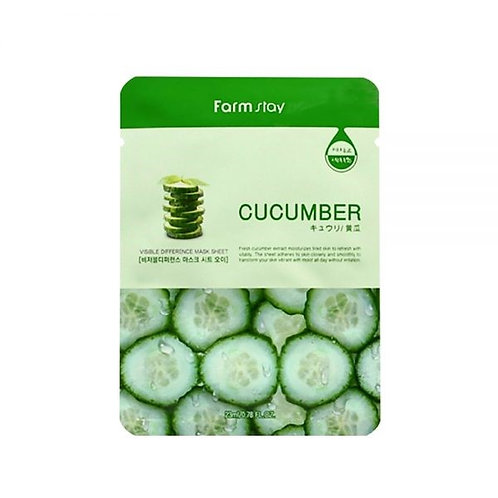 FARM STAY CUCUMBER MASK SHEET 23ml (1 SHEET) 40% OFF