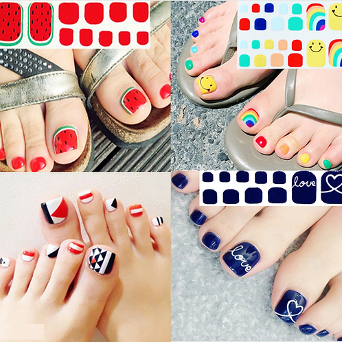 DIY GEL NAIL PEDICURE STICKERS (40% OFF)