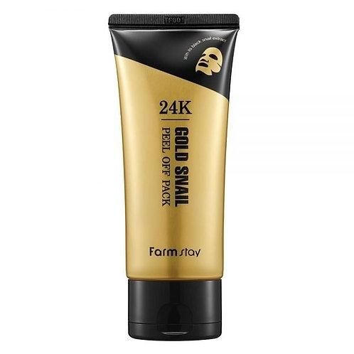 FARM STAY 24K Gold Snail Peel Off Mask Pack 100g (20% OFF)