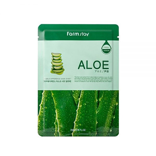 FARM STAY ALOE MASK SHEET 23ml (1 SHEET) (40% OFF)