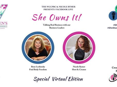 She Owns It Interviews Find Body Freedom Founder, Ilene Leshinsky