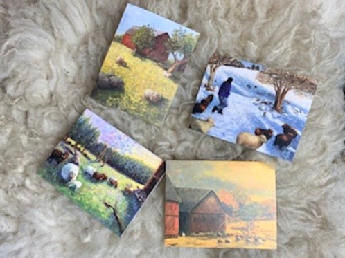 Farm Friends Note Cards