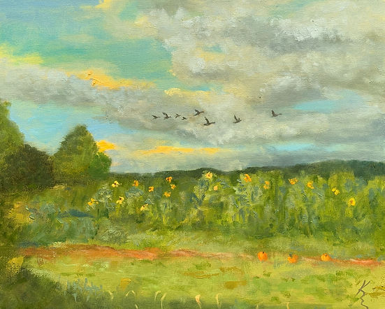 Fall Flight Painting by Kate Emery