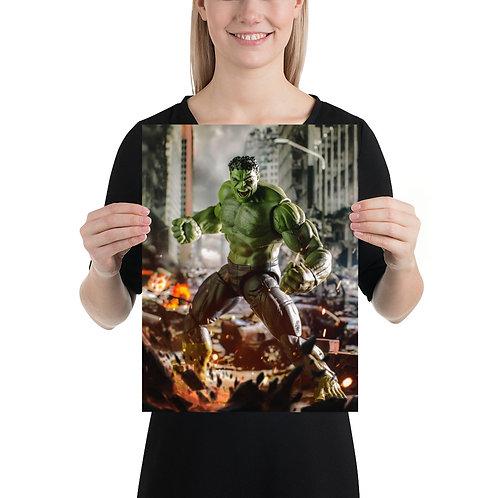 Hulk by Alvaro Garcia- Size 12 x 16 inches
