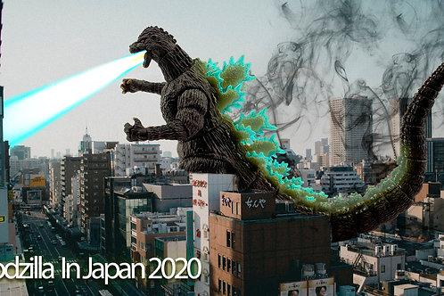 Godzilla in City (size 3840x2160mp)