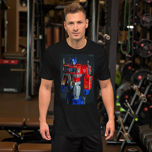 Optimus, like a boss. by Saravanan Kumar-Short Sleeve Unisex T-Shirt