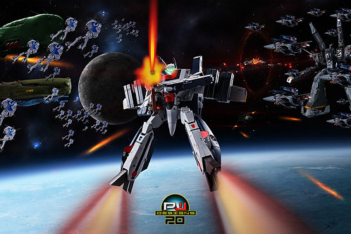 Hikaru Ichijo VF-1S Valkyrie Widescreen (size 1920x1080mp) by Peter Wang