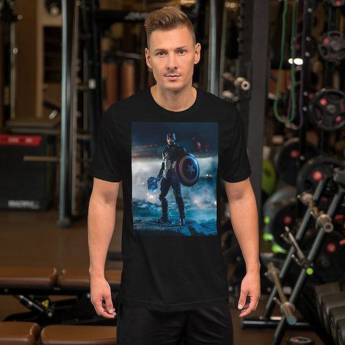 Captain America by Alvaro Garcia-Short Sleeve Unisex T-Shirt