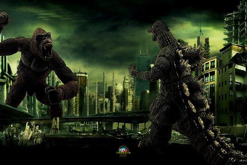 Godzilla vs King Kong (size 3840x2160mp)