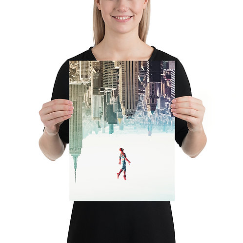 ACBA_Spidey_Leap Poster by Sushmit Biswas- Size 12 x 16 inches copy