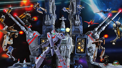 RICK-HUNTER-SDF-1-ROBOTECH_-OIL-PAINTING