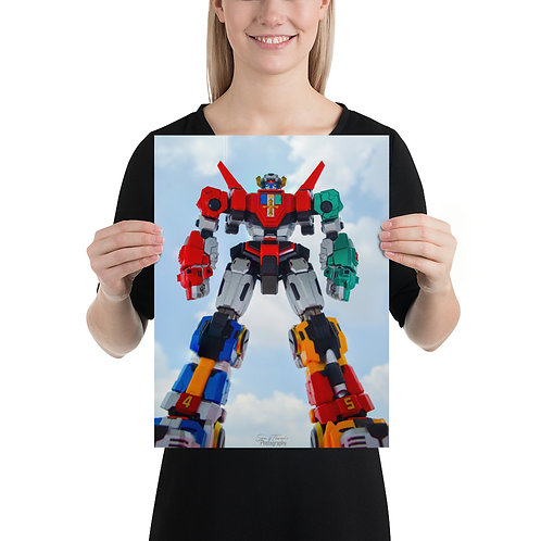 Voltron Titan. Poster by Saravanan Kumar- Size 12 x 16 inches