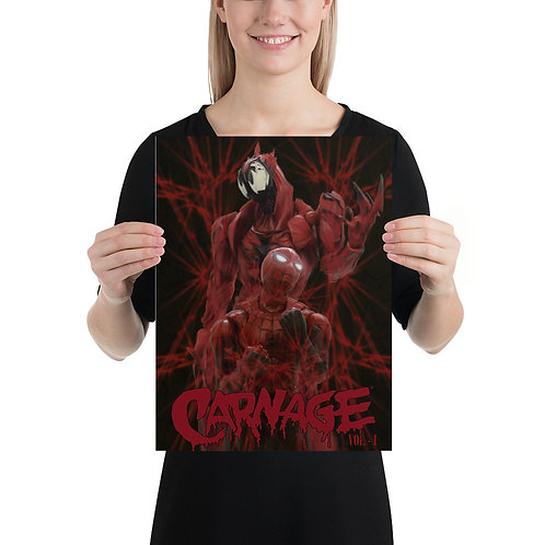 Carnage vol 1 Poster by Pritam Nightwing Das- Size 12 x 16 inches