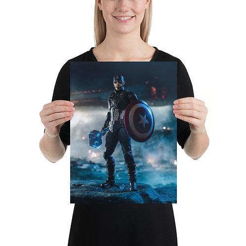 Captain America Poster by Alvaro Garcia- Size 12 x 16 inches