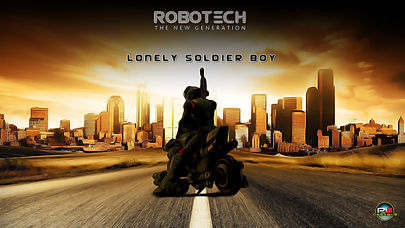 Robotech-Lonely-Solider-Boy-Oil-Painting