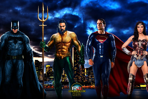Superman, Batman, Wonder Woman and Aquaman (size 1920x1080mp)