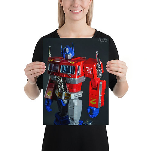 Optimus, like a boss. Poster by Saravanan Kumar- Size 12 x 16 inches