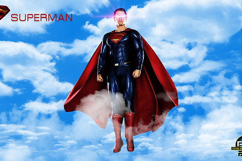 Superman in the sky (size 1920x1080mp)