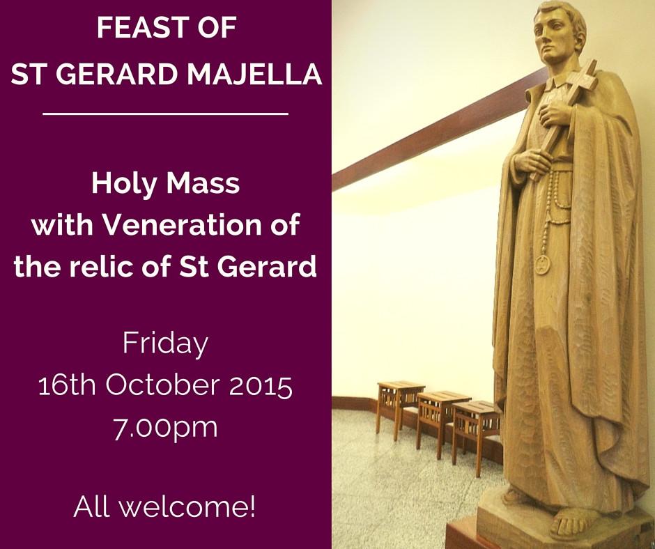 Feast of St Gerard Majella