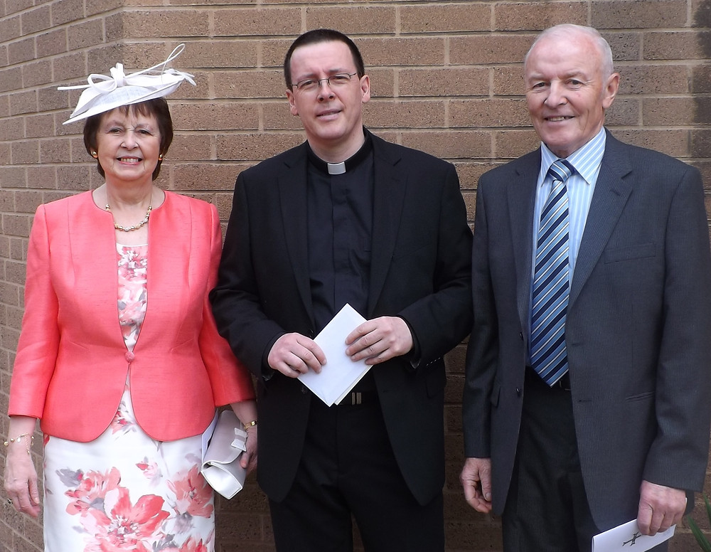 Father Travers before his Ordination with his mother & father