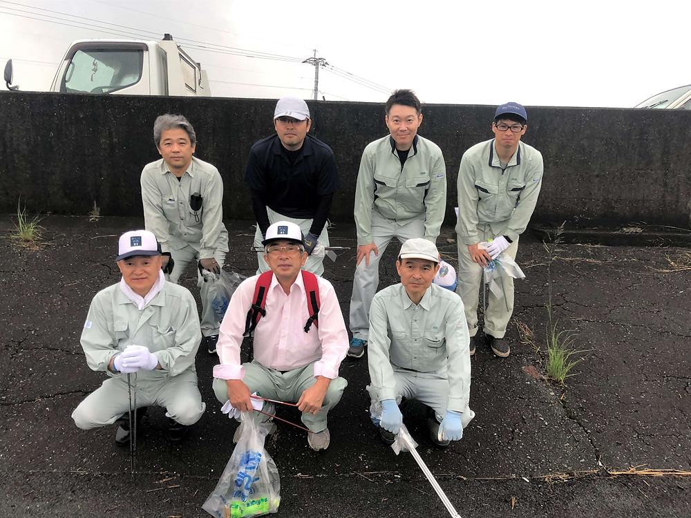 横島海岸堤防一斉清掃作業