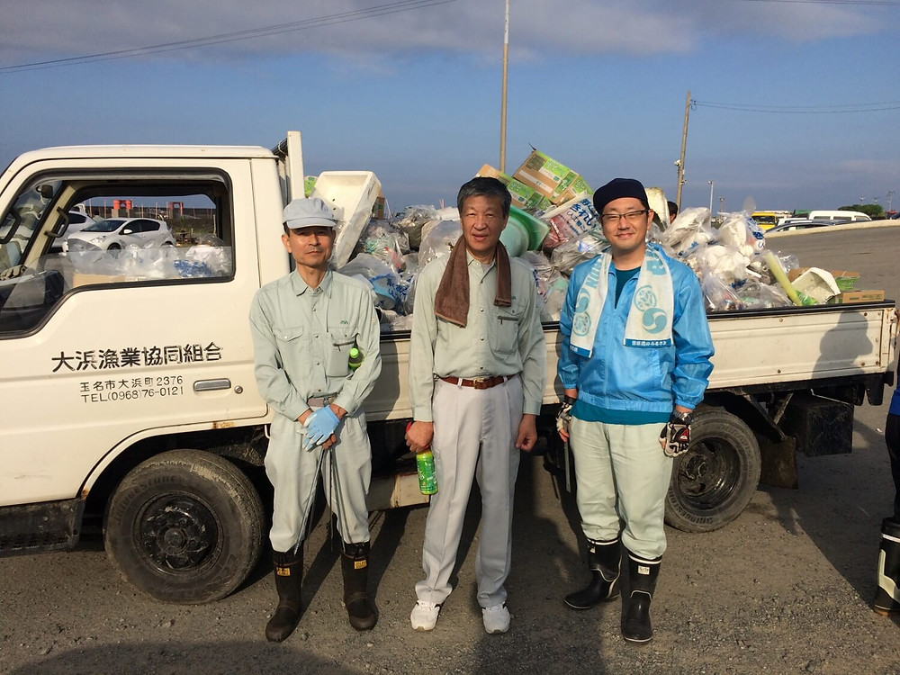 大浜漁港清掃