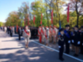 Лицей 35 им. Буткова В.В. | Бутковцы на параде кадетских классов и юнармейских отрядов