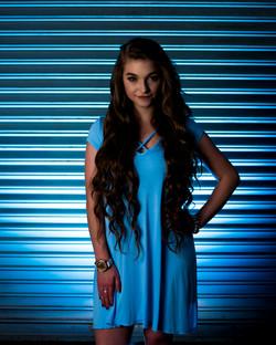 blue senior photo