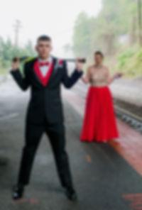 Prom pic railroad tracks