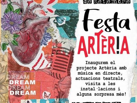 Artèria celebra la inauguració del projecte amb una exitosa festa al Casal