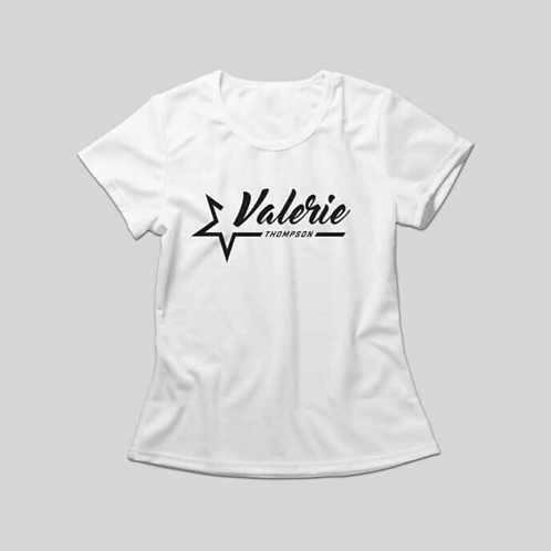Valerie Thompson Ladies White T-Shirt