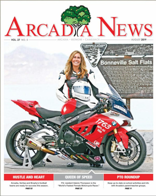 Front cover of the Arcadia News Paper, Arizona