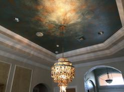 Metallic faux on ceiling