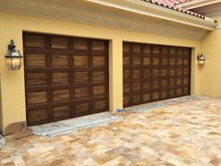 Two tone garage woodgrain