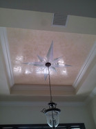 venetian plaster on tray ceiling