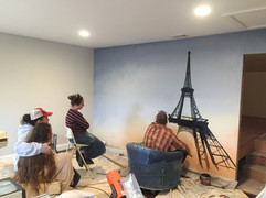 """""""SOMEWHERE""""in France mural.. lol"""