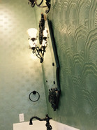 Faux over textured wallpaper