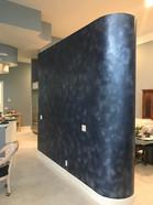 Metallic wall finish