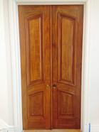 Faux Walnut on office entry door
