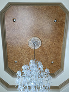 Faux on tray ceiling