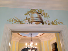 Birdcage mural