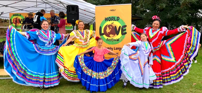 Mexican dancers beautiful women world of love festival